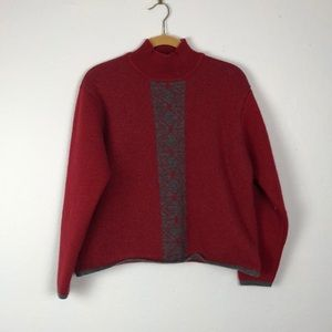 The North Face Red with Print Sweater